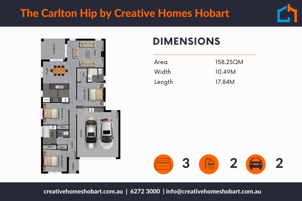 Carlton 158 Hip Plan